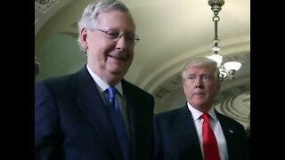 Mitch McConnell and 17 RINO Senators join Democrats in passing infrastructure bill.