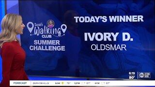Sarah's Walking Club Summer Challenge Tuesday Winner