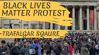 BLM PROTEST TRAFALGAR SQUARE - LONDON, ENGLAND - 12TH JUNE 2020