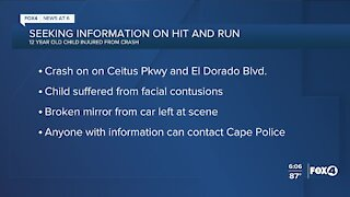 Cape Coral Police seeking information on a hit and run