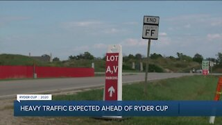 Heavy traffic expected ahead of Ryder Cup