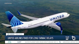 United Airlines facing fines for tarmac delays