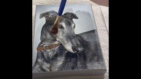 Woman Paints Incredible Pet Portraits!
