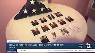Local businesses honor servicemembers killed in Afghanistan