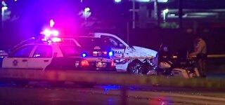 Las Vegas police shoot man who rams cars