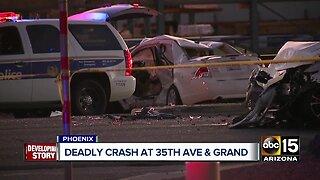 Authorities investigating deadly crash in west Phoenix