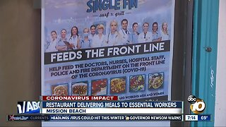 Mission Beach restaurant helping frontline workers