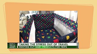 Renting out baby products for trips