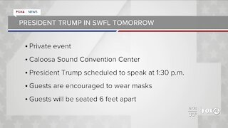 President Trump in SWFL on Friday.