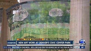 New art work at Denver's Civic Center Park