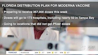 Moderna's COVID-19 vaccine coming to 173 Florida hospitals