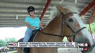 Therapeutic horse riding center receives $15,000 grant