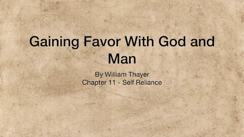 Chapter 11 - Self Reliance