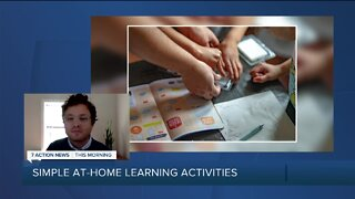 Simple at-home learning activities for kids home from school