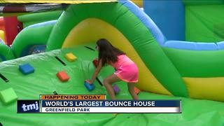 The World's Largest Bounce House is back in Wisconsin this weekend