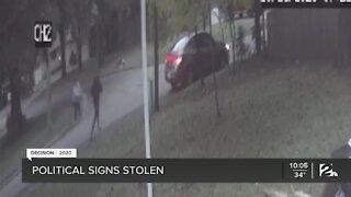 Political signs stolen