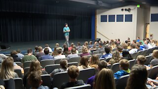 Students learn about overcoming life's challenges