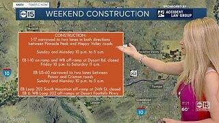 Weekend construction plan Feb 14-16