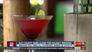 SLO County bars close for holiday weekend