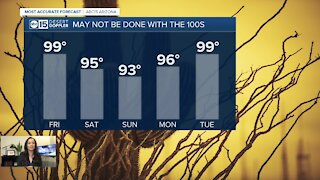 Nice weekend ahead with temperatures in the 90s