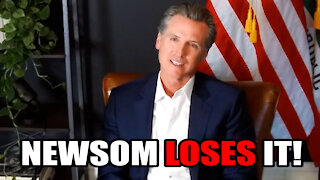 Gavin Newsom LOSES it Live on Interview