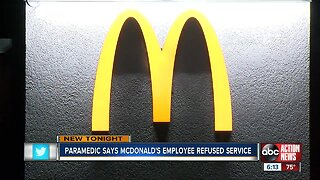 McDonald's employee fired after allegations of refusing to serve Sunstar paramedics