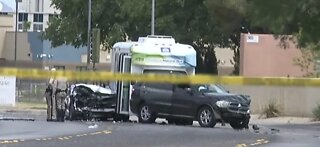 Crash injures 9 people Saturday