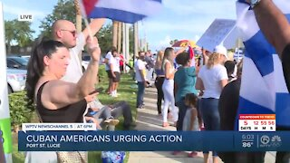 Cuban Americans continue protests in Port St. Lucie