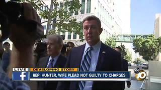Rep. Hunter, wife plead not guilty to charges