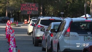 Delays at University Mall vaccination site