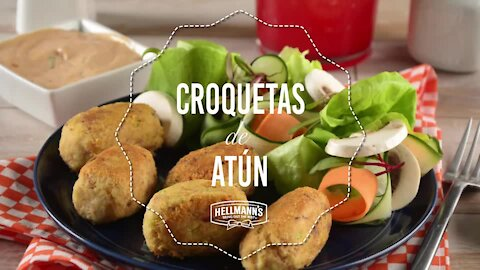 Tuna croquettes with dressing