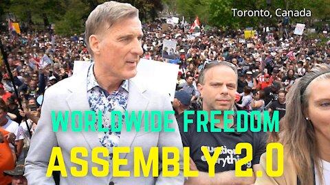 Raw full length Worldwide Freedom assembly. Toronto, Canada 05/15/21