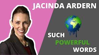 Jacinda Ardern talks about climate at UN congress