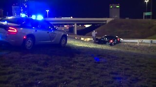 3 men evade capture after crashing car following police chase