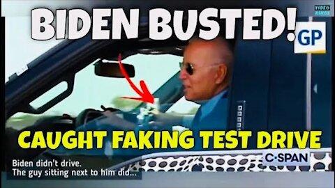 BIDEN DRIVING TRUCK ends up being a HOAX (Joe Biden FAKES test driving new Ford F-150)