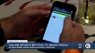 Online sports betting & gaming will begin Friday, Jan. 22 in Michigan
