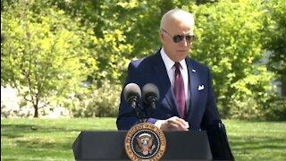 Joe Biden Violates CDC Guidance by Wearing a Mask then Pretends He's Edgey