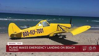 Small plane makes emergency landing on Palm Beach