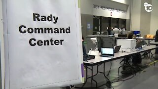 First look at the San Diego Convention Center migrant shelter