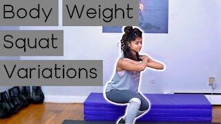 8 Squat Variations in 8 Minutes