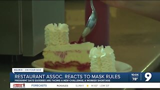 Arizona Restaurant Association reacts to updated mask guidance