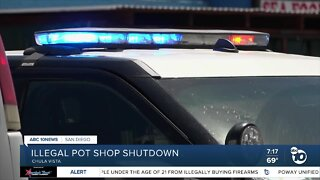 Chula Vista Police close illegal pot shops