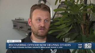Mesa officer critically injured on duty is focusing on helping others