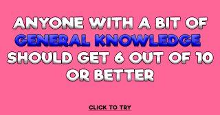 General Knowledge Trivia Quiz