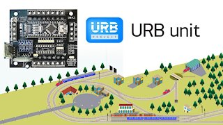URB unit - universal electronic device for controlling a model railway