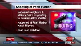 Shooting reported at Pearl Harbor