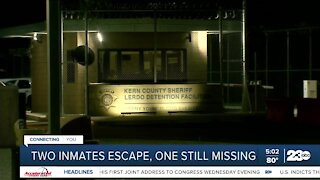 Two inmates escape, one still missing
