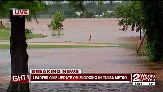 Leaders give update on flooding in Tulsa metro