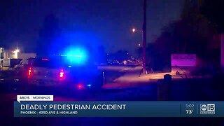 Phoenix police investigate fatal pedestrian crash