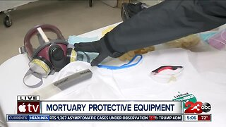 Local mortuary discusses personal protective equipment